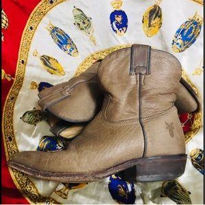 Frye short cowboy boots